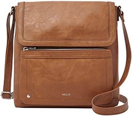 Womens Relic By Fossil Riley Crossbody Bag Dark Brown New With Tags