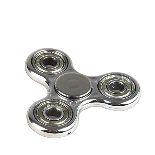 DSSY Tri – Hand Spinner Fidget Toys wiht High Speed Hybrid Ceramic Bearing for Relieving ADHD, Anxiety, Stress and Boredom (H Platinum)