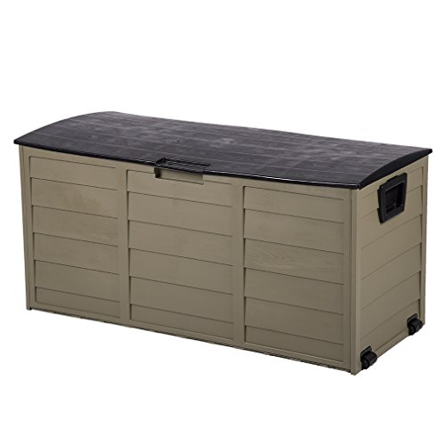 Outdoor Plastic Storage Containers (Plastic-Deck-Storage-Container-Box-Outdoor-Patio-Garden-Furniture-70-Gal)