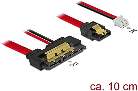 , SATA 22-pin, Female Connector//Female Connector, Noir SATA 22-pin Noir Molex C/âbles SATA 4-pin 0,1 m, SATA III, SATA 7-pin + Molex 4-pin DeLOCK 85238 c/âble SATA 0,1 m SATA 7-pin