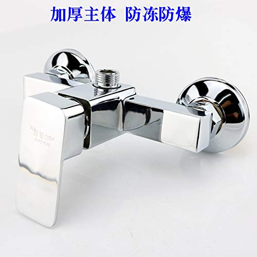 ROKTONG Mixing Valve Shower Mixing Valve Switch Bathroom Copper Concealed Mixing Valve Hot And Cold Water Faucet Water Heater Easy Shower Set