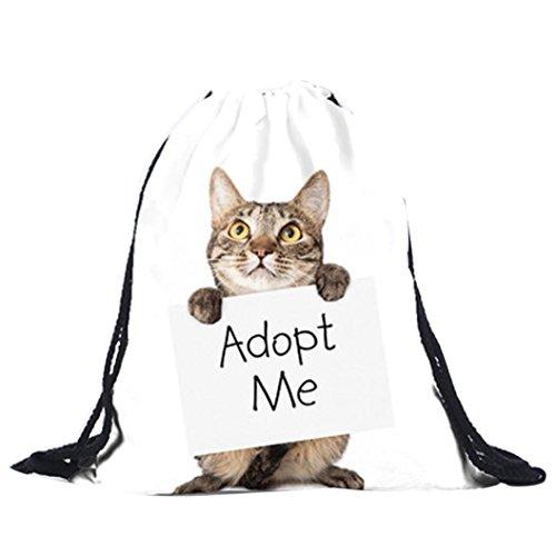 Internet Handtaschen Unisex Cat Rucksäcke 3D Druck Taschen