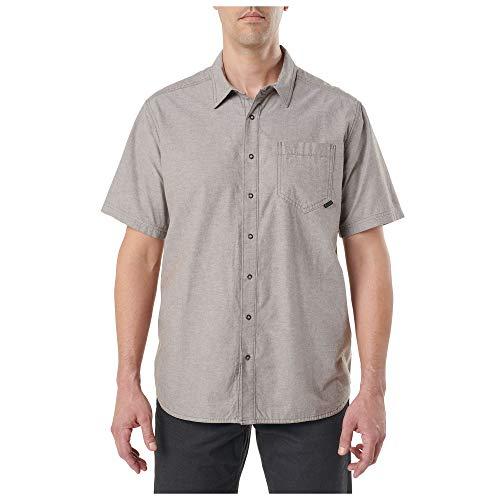5.11 Camisa de manga corta con botones de algodón táctico Ares, manga corta, estilo 71372