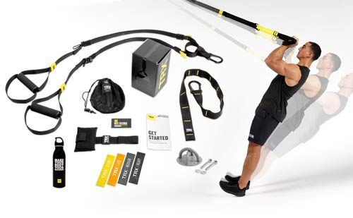 TRX GO Bundle: Includes GO Suspension Trainer Training Xmount Training Set of 4 Mini Bands amp TRX Training Stainless Steel Water Bottle