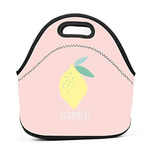 Citrine Lemon Lunch Bag Multifunction Bento Pouch Student Worker Travel Mummy Lunchbox Portable Satchel Baby Bag Handbag