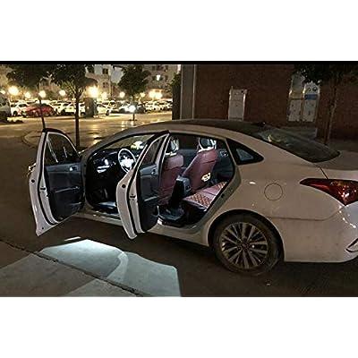 Serundo Auto 194 LED Bulb 168 LED Bulb T10 175 W5W 147 158 2825 1SMD 3030 Chips LED Bulb for Car Interior Dome light Map light interior Door light Courtesy light License Plate Light,Pack of 12pcs: Automotive