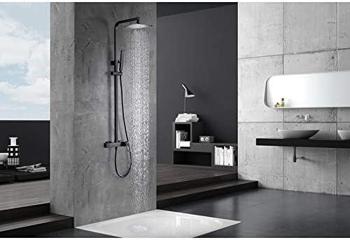Serie Suecia Barra de ducha negro mate Imex