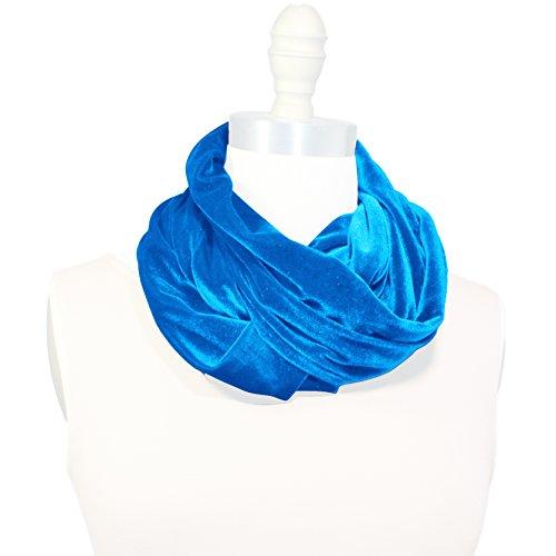 Designer Olive Velvet (Infinity Loop Scarf Soft Plush Velvet Many Colors Women's Warm Fall Winter Accessory Made in the USA)
