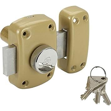 77448382ec41 Vachette - Verrou de securite Cyclop a bouton pour porte 23 a 28 mm ...