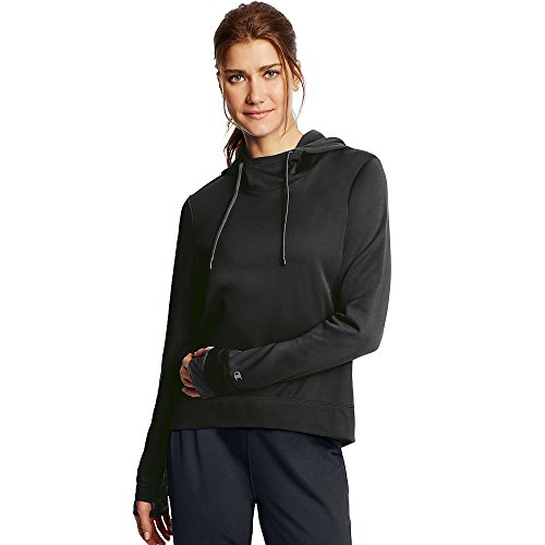 Champion Women's Tech Fleece Pullover Hoodie_Black_XL