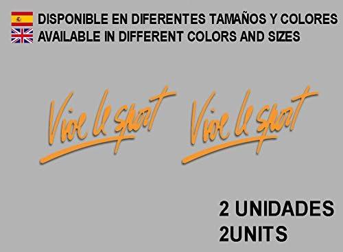 Orange Ecoshirt OX-82B8-BN4D Autocollants Vive Le Sport F73 Vinyle adh/ésifs Autocollants pour Voiture Voiture