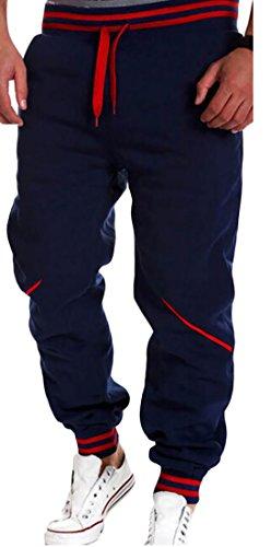 Pivaconis Mens Running Sport Drawstring Sweatpant Casual Jogger Pant Blue 3X-Large