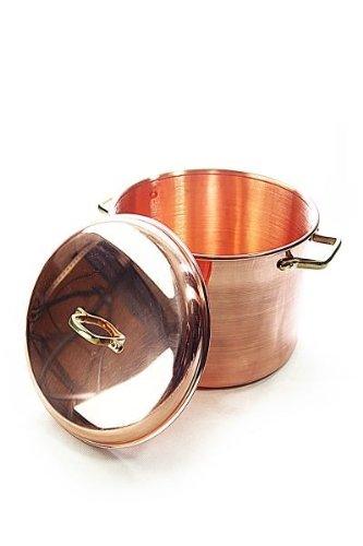 CopperGarden®' Kupfertopf 8L, glatt mit Griffen & Deckel