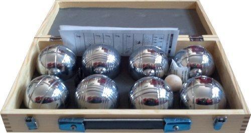 Boules Set mit 8 Kugeln (74 mm), 720g im Holzkoffer