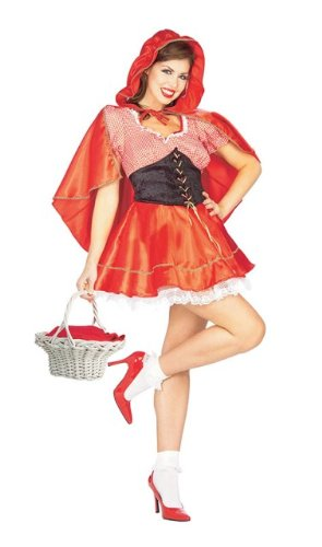 Uk Costume Hood Riding Red Little (Little Red Riding Hood Female Fancy Dress Costume Size US)