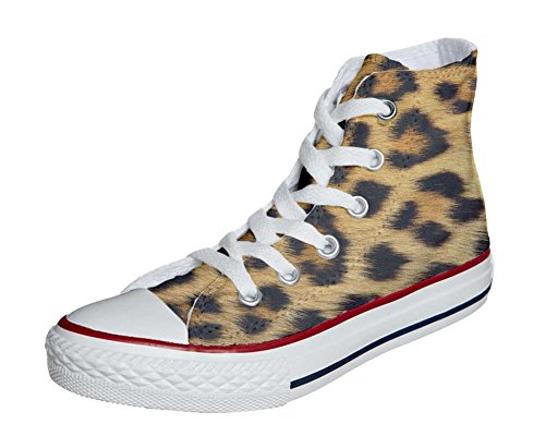 Artisanal Produit Coutume All Star Adulte Leopard Mixte Converse Chaussures vqH0ww