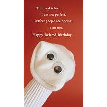 "Quiplip Sock 'ems SE07 ""Belated Birthday Perfect"" Card"