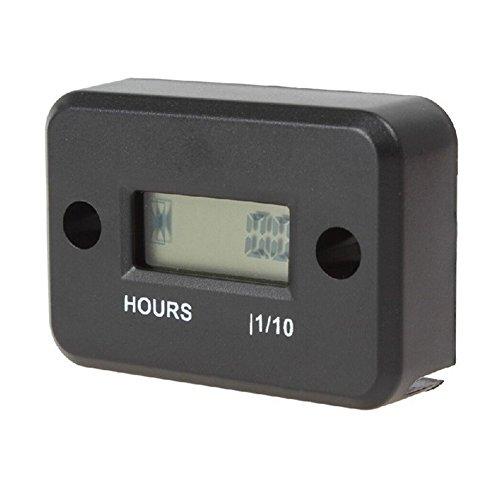 Aimilar Digital Inductive LCD Engine Hour Meter Waterproof for Motorcycle Black