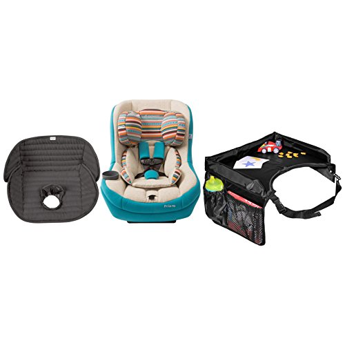 Maxi Cosi Pria 70 Convertible Car Seat in Bohemian Blue with Star Kids Snack & Play Travel Tray and Waterproof Seat Liner