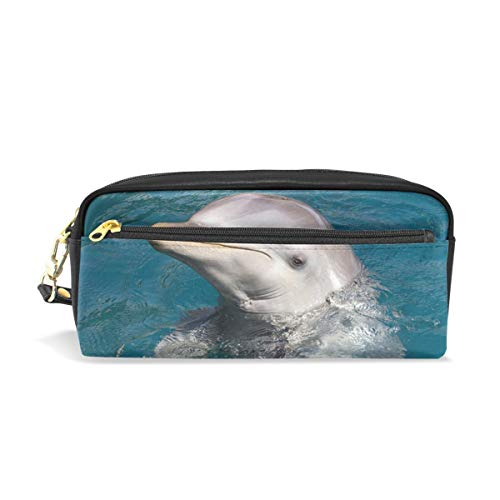Pen Case Secret Language of Dolphins Pencil Pouch Makeup Cosmetic Travel School Bag