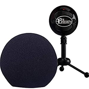 Windscreen Wind Cover for Blue Snowball,Black