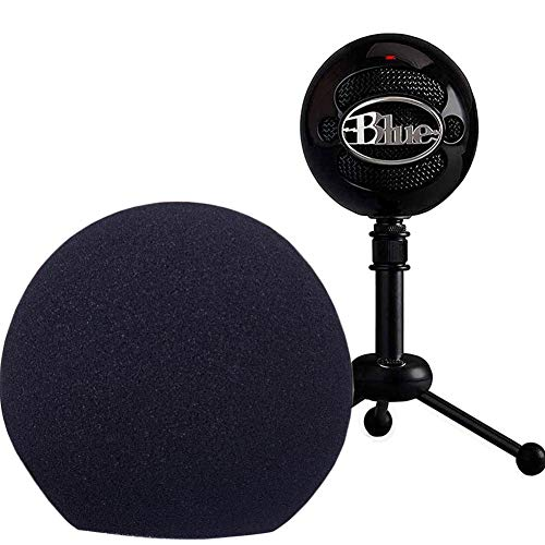 Professional Microphone Cover Foam Microphone Windscreen Wind Cover for Blue Snowball,Black