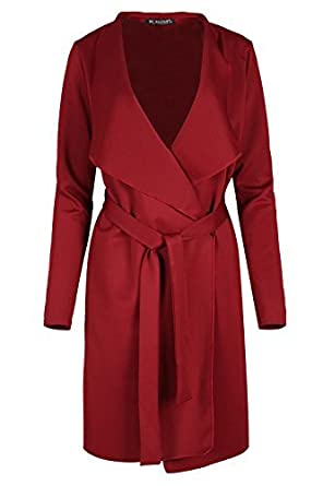 Fashion Star Ladies Oversized Waterfall Italian Blazers Long Sleeve Belted Duster Coat BE JEALOUS