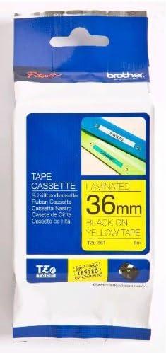 TZ, Amarillo, 8 m, 3,6 cm Brother TZe-661 TZ cinta para impresora de etiquetas Cintas para impresoras de etiquetas