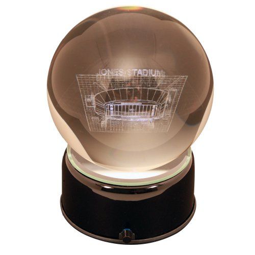 NCAA Texas Tech Red Raiders Jones Stadium Etched Lit Musical Turning Crystal - Water Musical Globe College