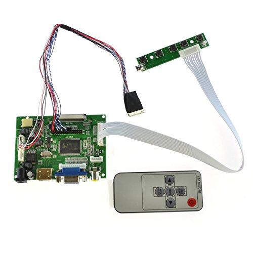 DIY HDMI VGA 2AV Reversing Lcd Driver Board for LED Panel 40 Pins N156BGE-L21 NT156WHM-N50 LP156WH4-TLN1 LP156WH4-TLN2 LTN156AT23-W01 LP156WH4-TLA1 LP156WH2-TLA 1366×768 LCD Panel by Aihome