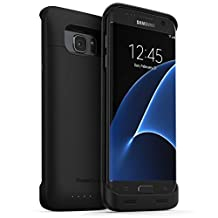 PowerBear® Samsung Galaxy S7 Edge Battery Case [5,000 mAh] High Capacity External Battery Charger for the Galaxy S7 Edge - Black [24 Month Warranty and Screen Protector Included]