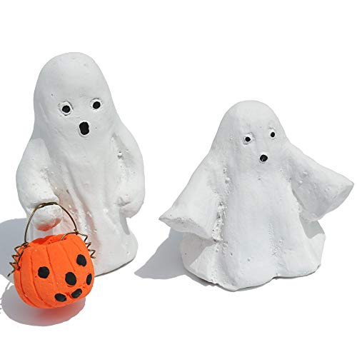 Miniature Fairy Garden Trick or Treat Ghosts, Set of 2 ()