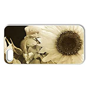 Memoirs - Case Cover for iPhone 5 and 5S (Flowers Series, Watercolor style, White)