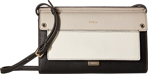 Furla Women's Like Mini Crossbody Onyx/Petalo/Vaniglia One Size