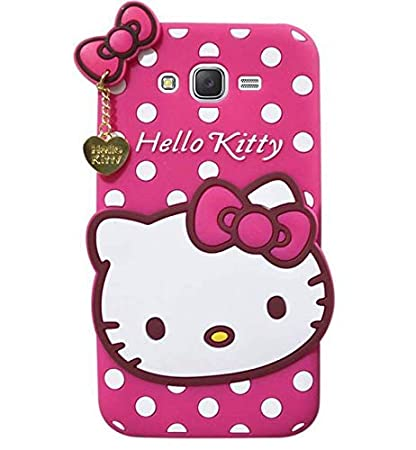 best website 4b166 d048f Qzey Hello Kitty Back Case Cover for Samsungs Galaxy ON7 Pro/On 7/On 7  pro-Pink