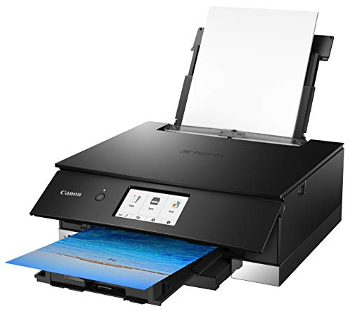 Canon TS8220 Wireless All in One Photo Printer with Scannier and Copier, Mobile Printing, Black by Canon (Image #3)