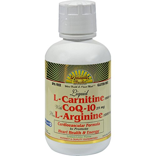 DYNAMIC HEALTH LABORATORIES INC L-Carnetine w CoQ-10 Plus L-Arginine 16 OZ