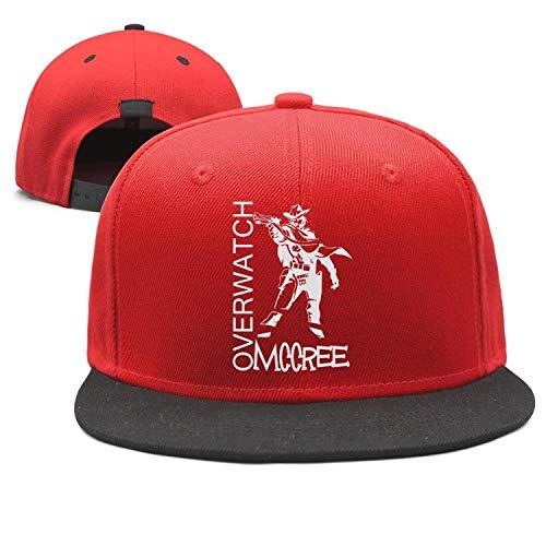 FAJDLD Overwatch-McCree-Gun-Trucker Hats for Men Women Sports Caps