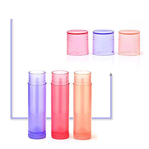 Gahat Tubo de plástico vacío, Tubos de bálsamo Labial, Fabricación de envases de Bricolaje con Tapa Tapas de lápiz de Labios, lápiz de Labios, ...