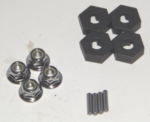 Traxxas E-Revo 1/10 Scale Hex Hubs, Pins and Wheel Nuts 14MM ()
