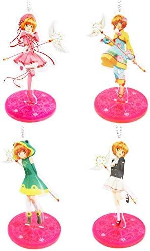 Cardcaptor Sakura Kinomoto Pink Outfit Character Acrylic Stand Key Chain Anime