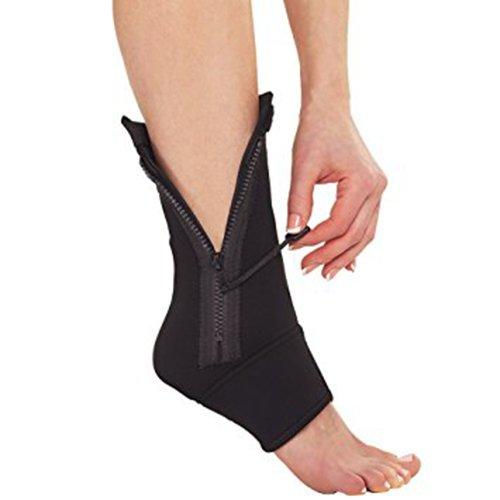 1pc NEW Ankle Genie Zip up Compression Support - As Seen on Tv - One Size Fits All!, Model: