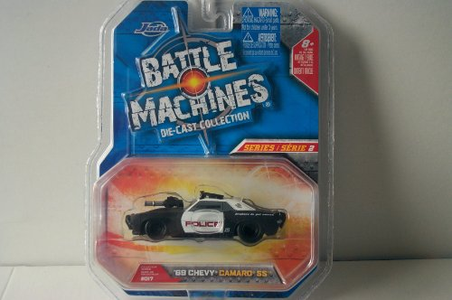 Battle Machines 1:32 69 Chevy Camaro SS Black & White Police Car