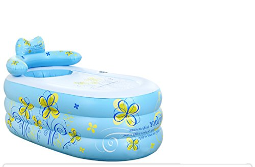 Blue Folding Thickening Inflatable Bathtub ( Color : Blue , Size : Hand pump ) by Inflatable tub