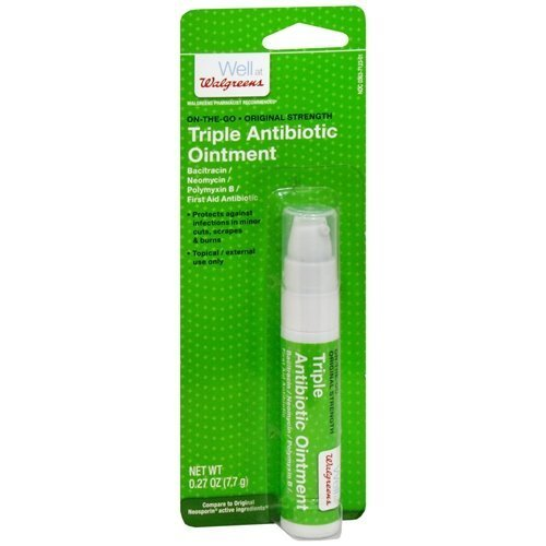 Walgreens Triple Antibiotic Ointment On-the-Go Pump 0.26 oz(pack of 2) by Walgreens