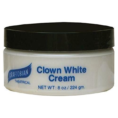 Clown White Cream 2.5 oz. - White Base Makeup