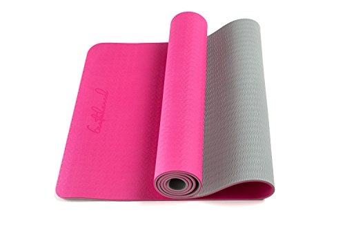 Bestshared Eco Friendly Two Layer TPE Premium Yoga Mat Extra Long 72