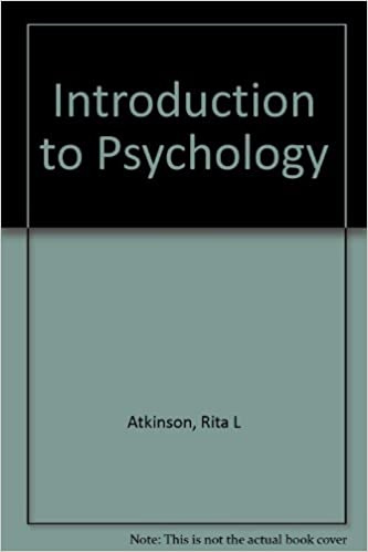 Introduction To Psychology Ernest R And Richard C Atkinson