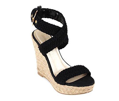 Sandalias Cuña High Zormey Heels Wedges Romana Bohemia Tobillo Cross Open Tied De Al Toe Zapatos Sandalias Mujeres Womens Alpargata 4 2017 Verano Bwqp4IU