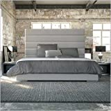 Prince Modern Grey Leather Bed -King Size